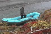 Photo of Inflating the raft
