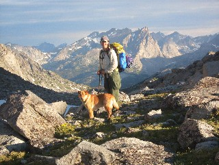 Hiker and Dog, Wind River Range